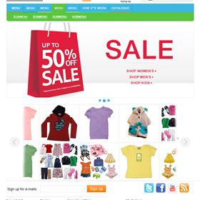 Websites: Online store for kids